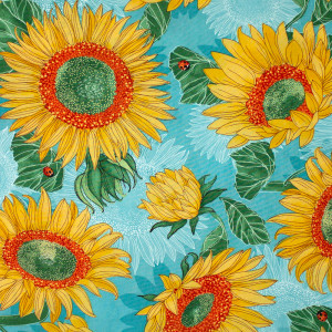 Solana Sunflowers Pond Blue by Moda Fabrics