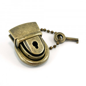 Emmaline Bags Mama Press Lock with Key Antique Brass