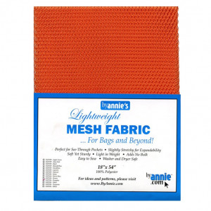 Mesh Fabric Light Weight - Pumpkin Orange from by Annie