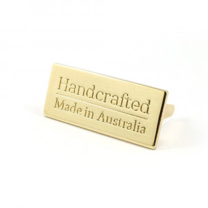Emmaline Bags Metal Bag Label: Handcrafted - Made in Australia Gold