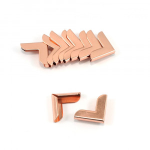 """Emmaline Bags Metal Corners 20mm (3/4"""") for Purses Copper (Rose Gold) (10 Pack)"""