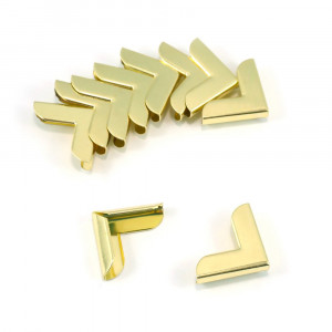 """Emmaline Bags Metal Corners 20mm (3/4"""") for Purses Gold (10 Pack)"""