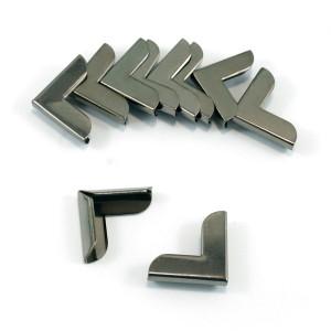 "Emmaline Bags Metal Corners 20mm (3/4"") for Purses Gunmetal (10 Pack)"