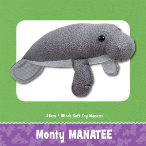 Monty Manatee Soft Toy Sewing Pattern by Funky Friends Factory