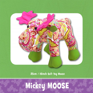 Mickey Moose Soft Toy Sewing Pattern by Funky Friends Factory