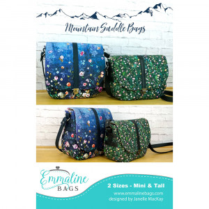 The Mountain Saddle Bag Sewing Pattern by Emmaline Bags