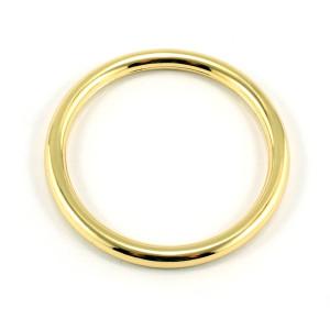 "Emmaline Bags Alloy O-Ring 40mm (1-1/2"") Gold - 4pk"