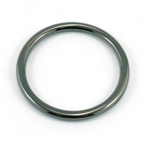 "Emmaline Bags Alloy O-Ring 40mm (1-1/2"") Gunmetal - 4pk"