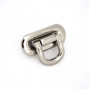 Emmaline Bags Oval Flip Lock Silver