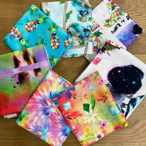 Party Animal FQ and Panel Pack 7pc By 3 Wishes Fabric