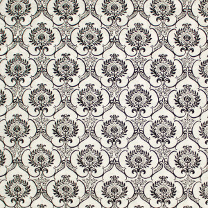Couture Noir Damask White by P & B Textiles