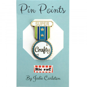 Pin Points by RicraC - Super Crafty Blue Enamel Pin