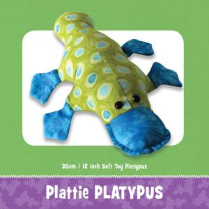 Plattie Platypus Soft Toy Pattern by Funky Friends Factory