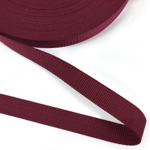 "Polypropylene Webbing - 25mm (1"") Burgundy"