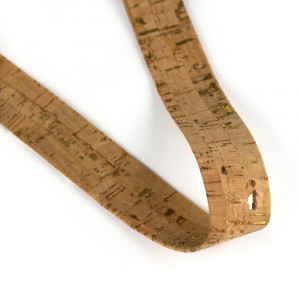 "Portuguese Pre-made Cork Strapping 25mm (1"") Wide Natural w/Gold"