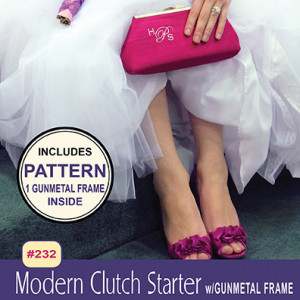 Modern Clutch Starter Pack (Purse Sewing Pattern with 1 Gunmetal Frame) by Pink Sand Beach Designs