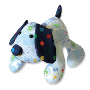 Funky Friends Factory Puppy Dog Pete Blue Soft Toy Making Kit
