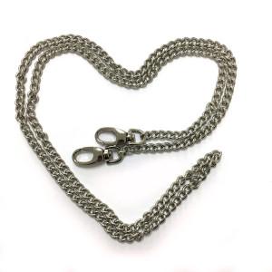 """Emmaline Bags Purse Chain w/ Swivel Snap Hooks Silver 112cm (44"""")"""