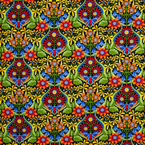 Spring Fever Mini Queen of the May Mexican Multi By Free Spirit Fabric