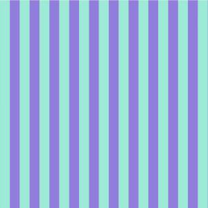 Tula Pink True Colors Stripes Peony (Purple and Aqua) By Free Spirit Fabric