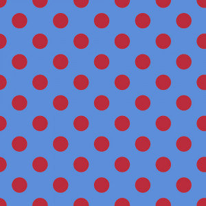 Tula Pink True Colors Pom Poms Lupin (Blue and Red) By Free Spirit Fabric