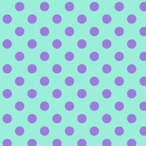 Tula Pink True Colors Pom Poms Pom Poms Petunia (Purple on Aqua) By Free Spirit Fabric
