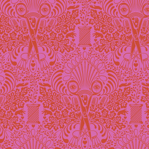 Tula Pink Homemade Getting Snippy Morning Pink by Free Spirit Fabric