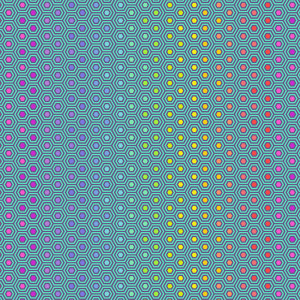 Tula Pink True Colors Hexy Rainbow Peacock By Free Spirit Fabric