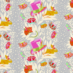 Tula Pink Curiouser and Curiouser 6pm Somewhere Wonder Grey By Free Spirit Fabric