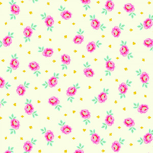Tula Pink Curiouser and Curiouser Baby Buds Sugar Cream By Free Spirit Fabric