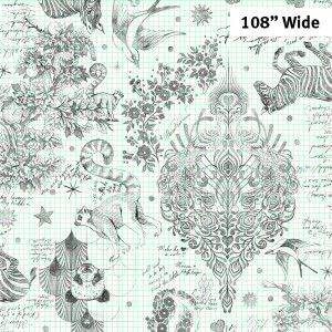 "Tula Pink Linework Sketchyer Paper 108"" Backing Fabric by Free Spirit Fabrics"