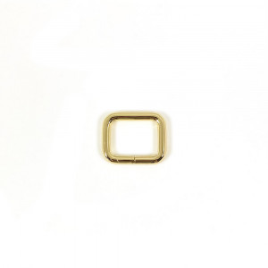 "Voodoo Bag Hardware Rectangular Rings 20mm (3/4"") Gold - 4 pk"