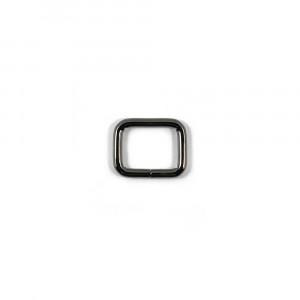 "Voodoo Bag Hardware Rectangular Rings 20mm (3/4"") Gunmetal - 4 pk"