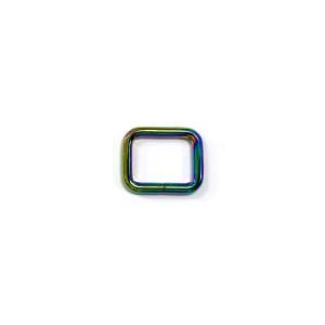 "Voodoo Bag Hardware Rectangular Rings 20mm (3/4"") Iridescent Rainbow - 4 pk"