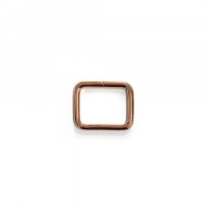 "Voodoo Bag Hardware Rectangular Rings 25mm (1"") Copper - 4 pk"