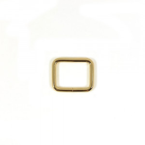 "Voodoo Bag Hardware Rectangular Rings 25mm (1"") Gold - 4 pk"