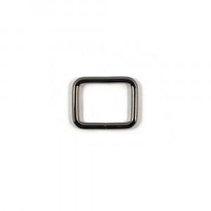 "Voodoo Bag Hardware Rectangular Rings 25mm (1"") Gunmetal - 4 pk"