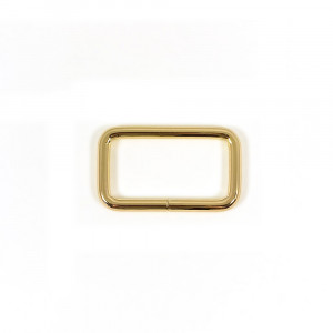 "Voodoo Bag Hardware Rectangular Rings 40mm (1-1/2"") Gold - 4 pk"