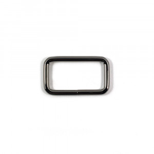 "Voodoo Bag Hardware Rectangular Rings 40mm (1-1/2"") Gunmetal - 4 pk"