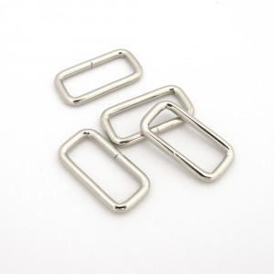 "Rectangular Wire Rings 25mm (1"") Silver - 4 pk"