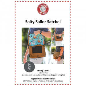 Salty Sailor Satchel Bag Sewing Pattern by Little Moo Designs