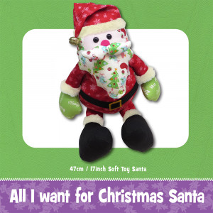 All I Want for Christmas Santa Soft Toy Sewing Pattern by Funky Friends Factory