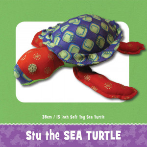 Stu the Sea Turtle Soft Toy Pattern by Funky Friends Factory