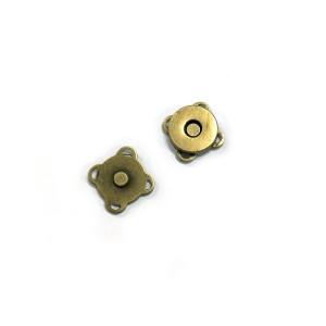 "Voodoo Bag Hardware Sew-in Blossom Magnet 14mm (5/8"") Antique Brass"