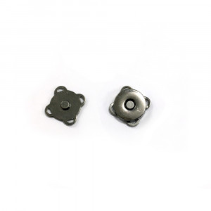 "Voodoo Bag Hardware Sew-in Blossom Magnet 14mm (5/8"") Gunmetal"