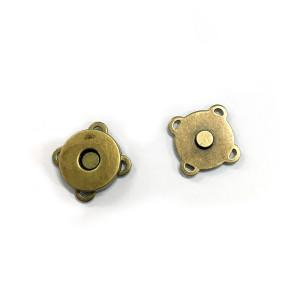 "Voodoo Bag Hardware Sew-in Blossom Magnet 18mm (3/4"") Antique Brass"