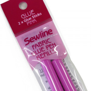 Sewline Fabric Glue Pen Refills Pink 2pk