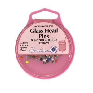 Hemline Glass Head Pins