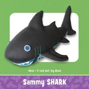 Sammy Shark Soft Toy Pattern by Funky Friends Factory
