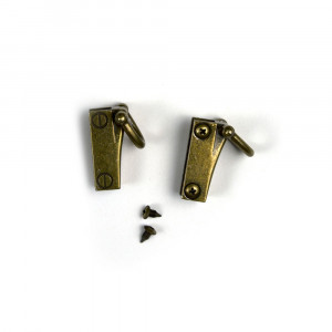 Side Edge Strap Anchor Set Antique Brass (2pk)